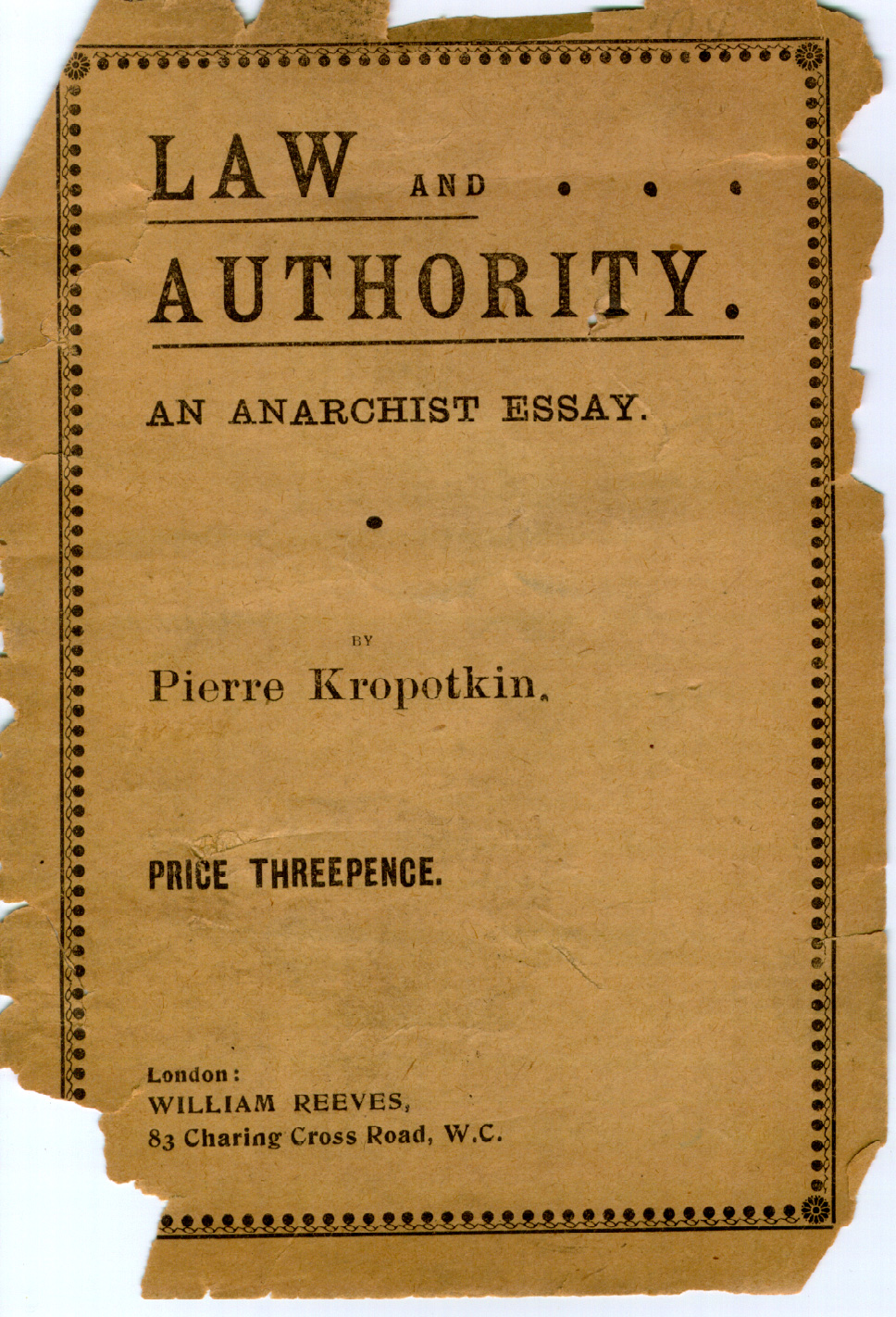 kropotkin law and authority cov law and authority an anarchist essay