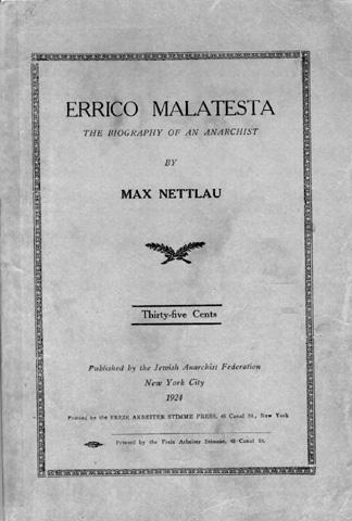 Nettlau Biography Of Malatesta