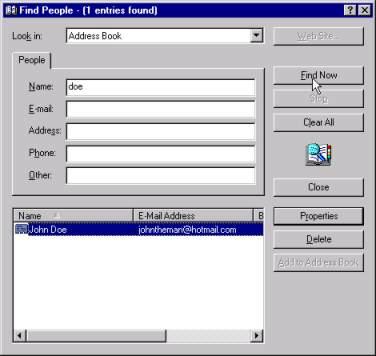 Outlook Express Adress Book